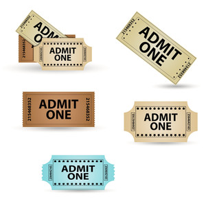 Tickets Vector Set