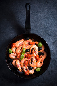 Tiger Shrimp In Pan