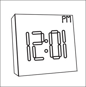 Time Clock Drawing