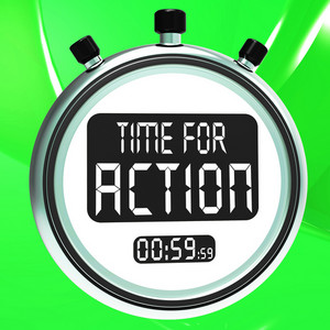 Time For Action Clock Shows To Inspire And Motivate
