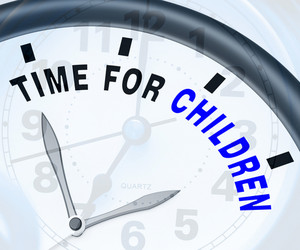 Time For Children Message Means Playtime Or Getting Pregnant