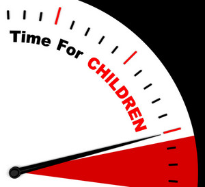 Time For Children Message Shows Playtime Or Getting Pregnant