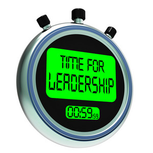 Time For Leadership Message Shows Management And Achievement