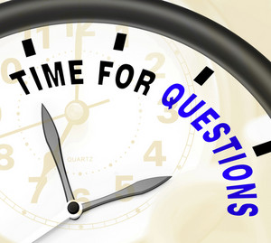 Time For Questions Message Showing Answers Needed