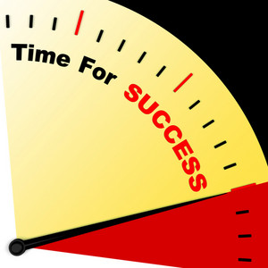 Time For Success Message Representing Victory And Winning