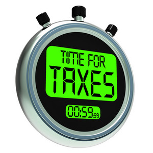 Time For Taxes Message Means Taxation Due