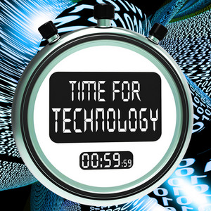 Time For Technology Message Showing Innovation Improvement And Hi Tech