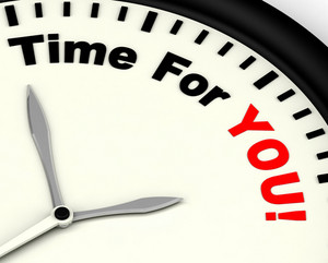 Time For You Message Shows You Relaxing