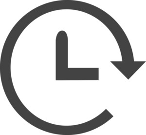 Time Machine Glyph Icon