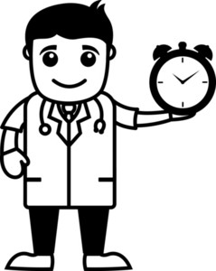 Time Management - Doctor - Office Cartoon Characters