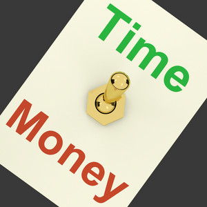 Time Money Switch Showing Hours Are More Important Than Wealth