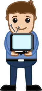Tiny Tv - Vector Illustration