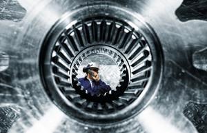 titanium and steel cogwheels and gears machineries