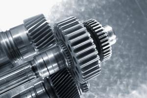 titanium and steel gears and cogwheels