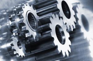 titanium cogwheels and gears