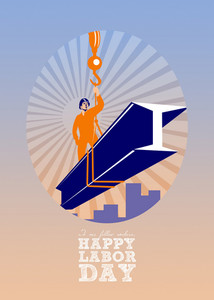 To Our Fellow Workers Happy Labor Day Poster