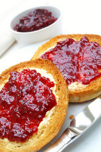 Toasted Tea Cakes Muffins With Jam