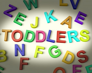Toddlers Written In Plastic Kids Letters