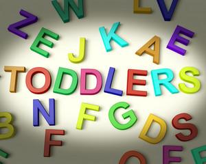 Toddlers Written In Plastic Kids Letters