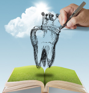 Tooth With Crown Doodle