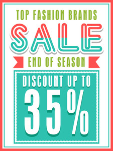 Top Fashion Brands Sale with discount offer can be used as poster
