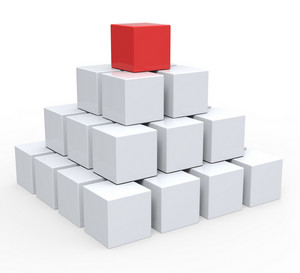 Top Of Pyramid Shows Hierarchy Or Leader