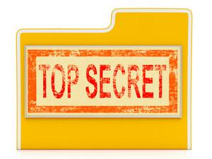 Top Secret File Shows Confidential Folder Or Files