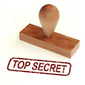 Top Secret Rubber Stamp Shows Classified Correspondence