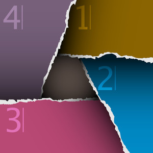 Torn Paper Number Background