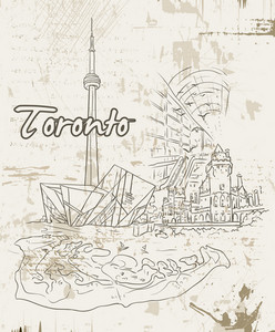 Toronto Doodles Vector Illustration