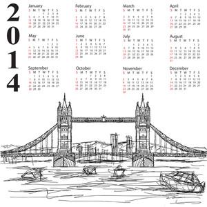 Tower Bridge 2014 Calendar