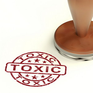 Toxic Stamp Shows Poisonous Lethal And Noxious Substance