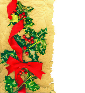 Traditional Christmas Border With Clipping Path