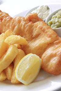 Traditional Fish And Chip Supper Dinner