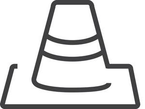 Traffic Cone 1 Minimal Icon