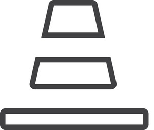 Traffic Cone 2 Minimal Icon