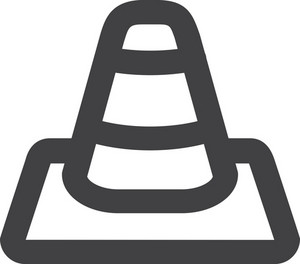 Traffic Cone Stroke Icon