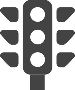 Traffic Lingt Glyph Icon