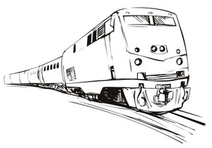 Train Sketch Style