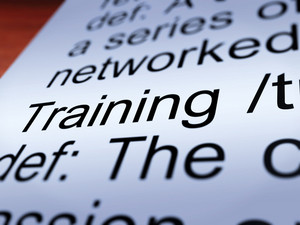 Training Definition Closeup Showing Education