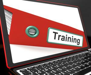 Training File On Laptop Shows Coaching