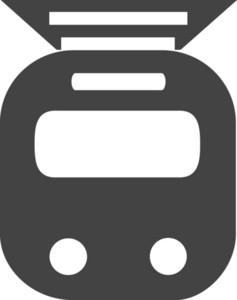 Tram Glyph Icon