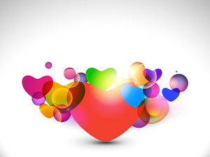Transparent Colorful Hearts Abstarct. Eps10