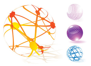 Transparent Spheres. Vector.