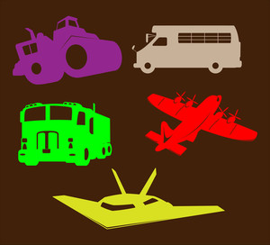 Transportation Vehicles Shapes
