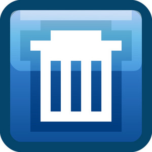 Trash Bin Blue Tiny App Icon