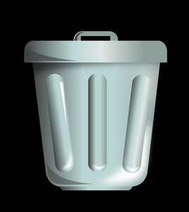 Trash Can Front View