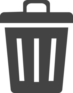 Trash Glyph Icon