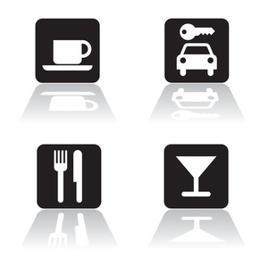 Travel And Catering Icons