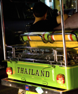Traveling Along In A Tuk Tuk In Thailand